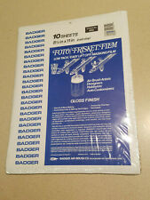 "Badger 10 Sheets 8 1/2"" x 11"" Stock # 600 Foto/Frisket Film Transfer Paper (NEW)"
