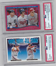 2014 Topps Red Hot Foil 2013 AL Batting Ldrs #103  CABRERA, MAUER, TR0UT  PSA 10