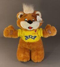 "Rare Zeddy Canadian Zellers Store Mascot Red Cross Plush Teddy Bear Brown 15"""