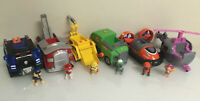 Paw Patrol Deluxe Light & Sound Pull Back Vehicles Complete Collection Lot 6 EUC