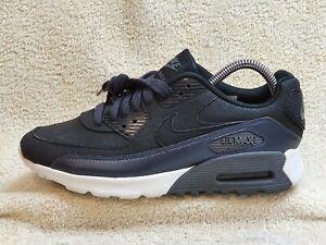 Nike Air Max 90 Ultra SE trainers Leather Black/Metallic/White UK 5 EUR 38.5