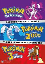 POKEMON The Movie Collection 1 2 3 (Region 2) DVD 2000 Trilogy Pack