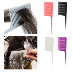 4pcs Professional ABS Weave Highlighting Hair Comb Salon Dyeing Combs Tool