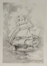 """Allen Hawks """" The Flying Cloud 1851"""" - Lithograph Print -  Sailboat - Nautical"""