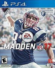 Madden NFL 17 W/CASE Sony PlayStation 4 PS SP4 GAME 2K17 2017 FOOTBALL