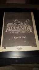 Atlanta Rare Original Mca Records Promo Poster Ad Framed!
