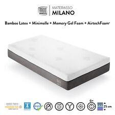 MATERASSO MEMORY FOAM GEL LATTICE MINI MOLLE  SINGOLO  H 25 cm  80x190 80x200