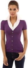 PattyBoutik Women 2 in 1 Pleated White Shirt Blouse Purple