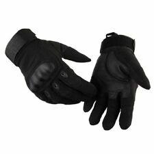 Breathable Microfiber With Faux Leather Material Full Finger Man Tactical Gloves