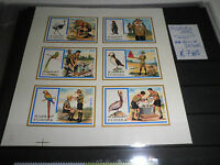 "FRANCOBOLLI FUJEIRA 1972 ""SCOUT UCCELLI DIVISE"" MNH** BLOCK IMPERF. (CAT.A)"