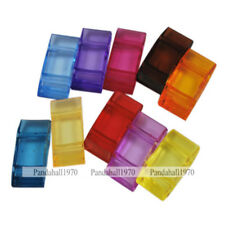 500g Mixed Color Rectangle Transparent Jewelry Making Beads 17x9x5mm about 780pc