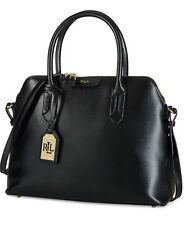 NWT LAUREN Ralph Lauren Tate Dome Satchel  Black Patent Leather~MSRP $228