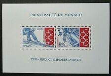 Monaco 1994Winter Olympics Mini Sheet UM. SG MS 2174.
