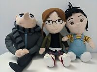"Despicable Me 2 Plushes Bundle 16"" Gru , 38cm Margo, 12"" Agnes Plushes"