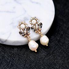J Crew Deep Gold Petite Flowers Freshwater Pearl Stud Earrings NWD