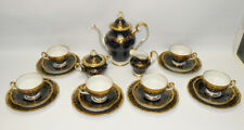 Weimar Porzellan, Kaffee-/Teeservice, 6 Personen, Katharina, 20003,Echt Kobalt