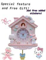 Pendulum wall hello kitty my melody clock
