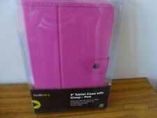 """Ausiosonic 9"""" Pink Tablet Case With Clasp. NEW"""