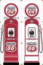 GAS PUMP SET PHILLIPS 66 BANNER GAS STATION SHOP GARAGE DISPLAY SIGN ART 2-2X6