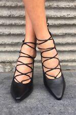 Senso Roxi ll Heels/ Shoes Ebony Matt Kid Black Leather Size 37/6 RRP $270 New!!