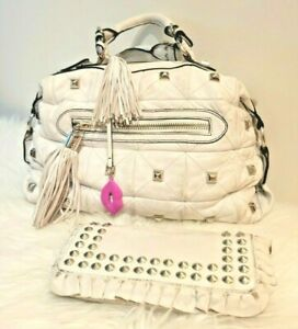 Betsey Johnson Leather Purse w/ free matching wallet and extra strap