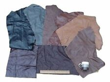 SCRAP UPHOLSTERY LEATHER MIXED JUMBO PIECES LW 12 SF