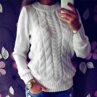 New Women Winter Warm Casual Knitted Pullover Loose Sweater Jumper Tops Knitwear