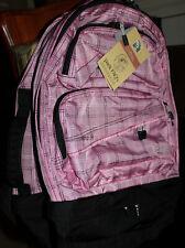 LLBean Backpack Gym Bag Pink Plaid New