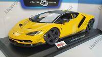 MAISTO 1:18 Scale Diecast Model Car  Lamborghini Centenario in Yellow