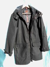 Neuf avec Étiquettes Homme Laine Mélangée Entièrement Doublé Manteau Noir Par