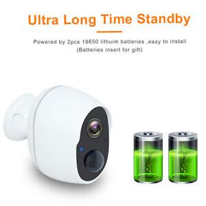 Wireless 1080P WiFi Outdoor IP Camera Security CCTV Battery Waterproof IR Cam UK