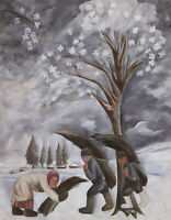 Natalia Goncharova : Winter Gathering Firewood :  Archival Quality Art Print