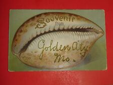 ZX735 Vintage Souvenir Sea Shell Postcard Golden City Missouri