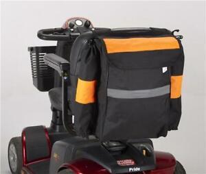 Mobility Scooter bag  Crutch / walking stick holder Hi-Vis fluorescent