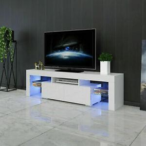 Modern High Gloss TV Unit Cabinet Stand Sideboard Entertainment Center LED Light
