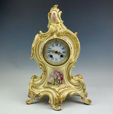 Antique French Rococo Style Japy Freres Gilman Collamore Porcelain Clock Nr Sms