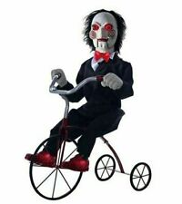 Animated Jigsaw Billy the Puppet Tricycle Trike Moves Lights Up Motion Sensor