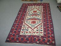 Antique Hand Knotted Wool on Wool Rug 3'-5 x 5'-11 Turkish Anatolian Tribal