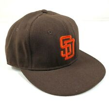 San Diego Padres Fitted Hat Cap Size 7 1/2 Brown Orange Logo New Era Diamond NWT