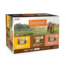 Instinct Original Grain Free Recipe Variety Pack Natural Wet Canned Cat Food by