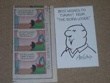 "Chip Sansom  hand drawn & signed Original Sketch & ComicStrip ""THE BORN LOSER"""