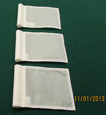 "PUTTING GREEN FLAGS -  SET OF 3 WHITE - SIZE 6""X8"""