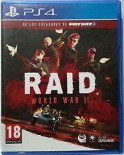 Raid World War II. Ps4. Fisico. Pal Es