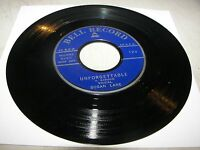 SUSAN LANE UNFORGETTABLE / LON RAMSEY MACK THE KNIFE 45 EX BELL 124 1959
