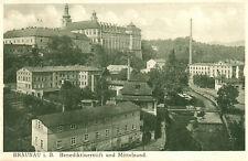 Ak*  Braunau i.B. - Benediktinerstift und Mittelsand (AB)20558