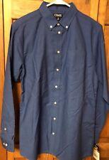 Chaps Ralph Lauren Boys Long Sleeve Casual Dress Shirt Solid Blue size 20