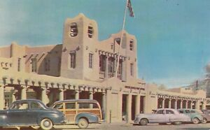 A)  Santa Fe, NM - United States Post Office - Exterior - CLASSIC CARS!