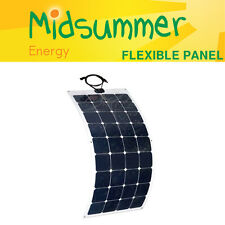 100W 12V ETFE semi-flexible solar panel - strong self-adhesive back - boat/yacht