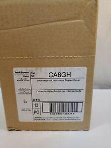 12 - Pass & Seymour Legrand Weatherproof Duplex Cover CA8-GH