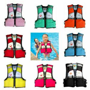 CHILD KIDS LIFE JACKETS SWIMMING Floating Swim Zip Vest Buoyancy Aid Jacket UK